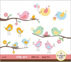 Bird's Nest clipart spring bird