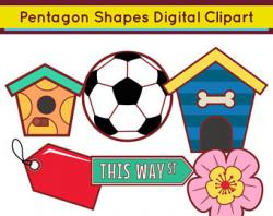Pentagon clipart 2d shapes