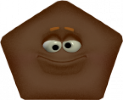 Pentagon clipart brown