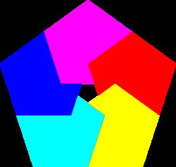Pentagon clipart colorful