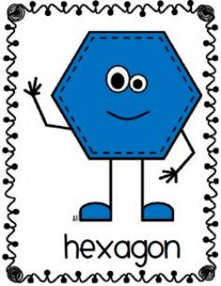 Hexagon clipart shape