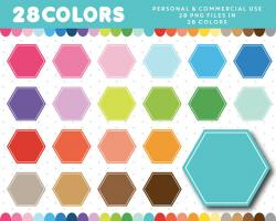 Hexagon clipart geometric shape