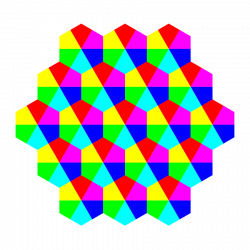 Hexagon clipart colorful
