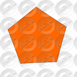 Pentagon clipart orange