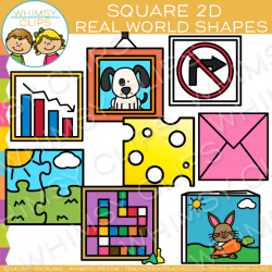 Square clipart 2d shapes