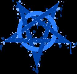 Pentagram clipart blue
