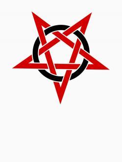 Pentagram clipart red