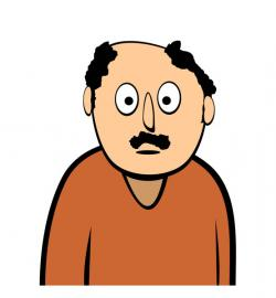 Expression clipart shocked man
