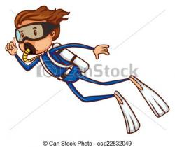 Diver clipart drawing