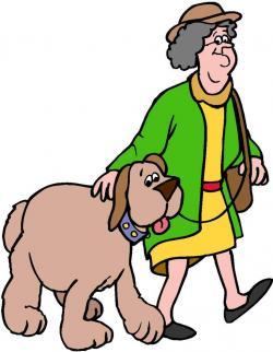 Pets clipart dog walking