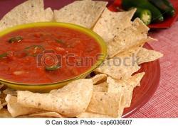 Tortilla clipart bowl salsa