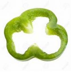 Pepper clipart sliced green pepper