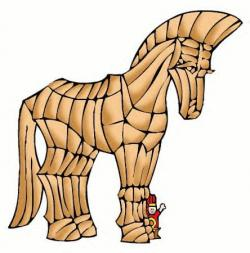 Trojan Horse clipart popsicle stick