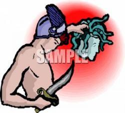 Perseus clipart medusa head