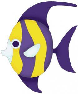 Butterflyfish clipart cute purple fish