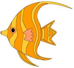 Angelfish clipart cute