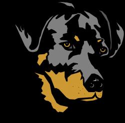 Rottweiler clipart dog head