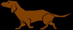Bloodhound clipart brown