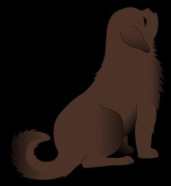 Rear clipart dog sitting