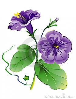 Purple Flower clipart petunia