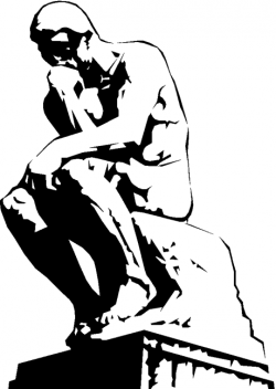 Sculpture clipart thinker