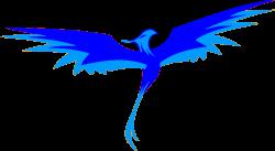 Phoenix clipart blue