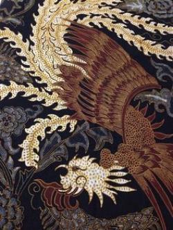 Phoenix clipart motif batik