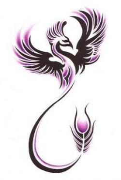 Fenix clipart purple
