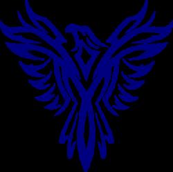 Fenix clipart blue