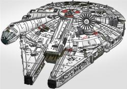 Star Wars clipart millennium falcon