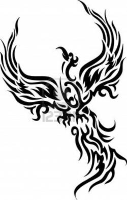 Fenix clipart stencil