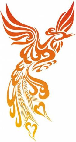 Phoenix clipart tribal