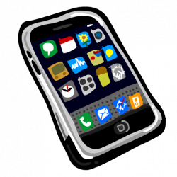 Text clipart smartphone