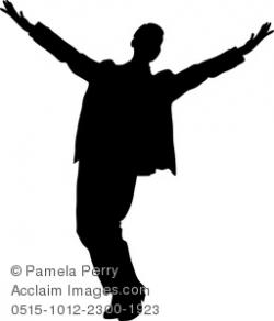 Actor clipart silhouette