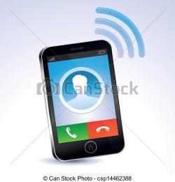 Brunette clipart cell phone call