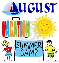 Camp clipart summer vacation