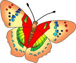 Rainbow Butterfly clipart multi coloured