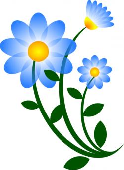 Gerbera clipart blue