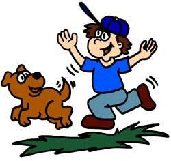Pet clipart dog owner