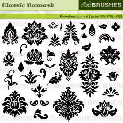 Damask clipart high resolution