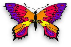Physcedelic clipart butterfly