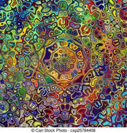 Physcedelic clipart colorful