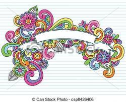 Physcedelic clipart frame design
