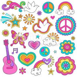 Physcedelic clipart love flower