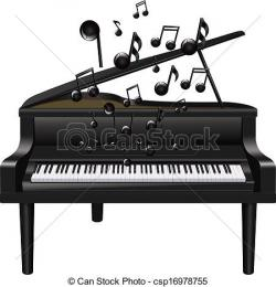 Piano clipart melody