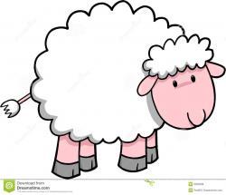 Fluffy clipart cute sheep