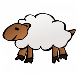 Fluffy clipart black sheep