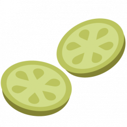 Pickle clipart sliced cucumber