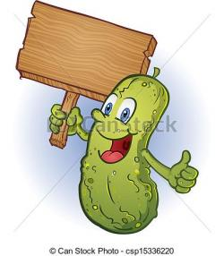 Pickle clipart funny cartoon
