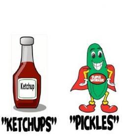 Ketchup clipart pickles